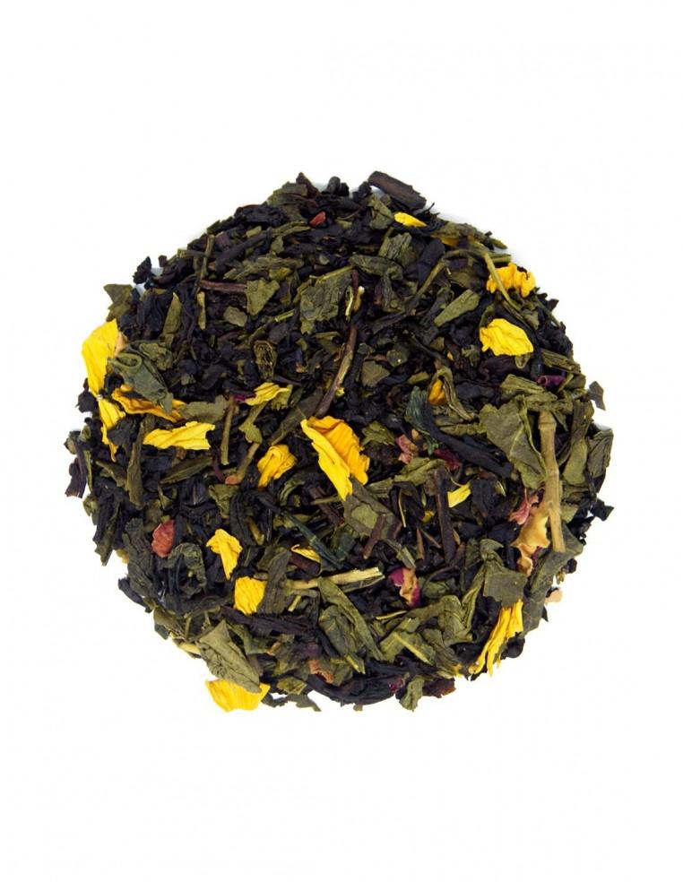 Té negro y verde con melocotón