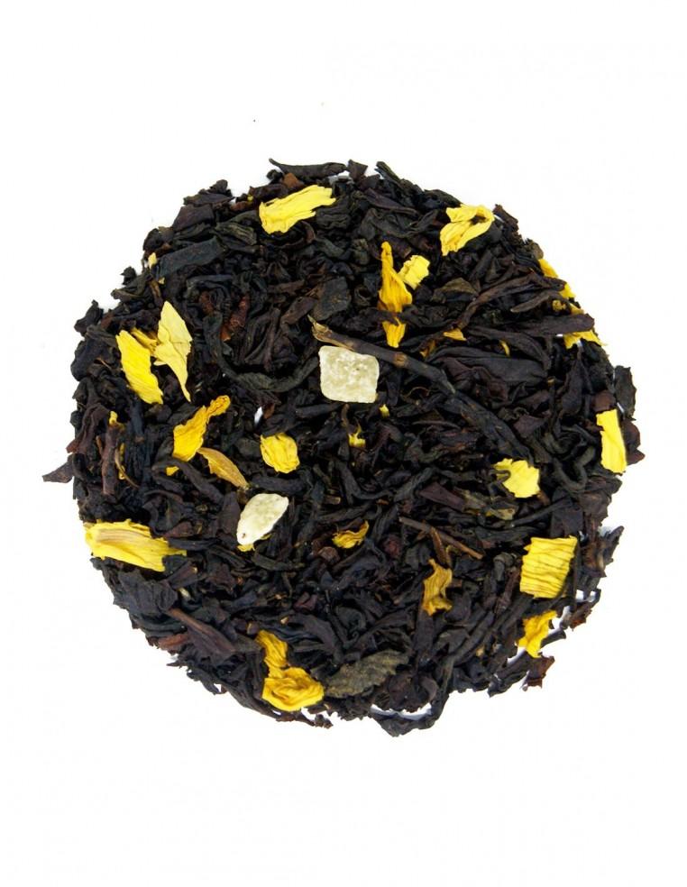 Té negro con mango y flores