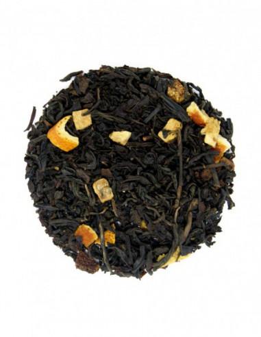 Té negro con cáscara de naranja
