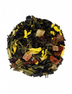 Té negro y verde con papaya...