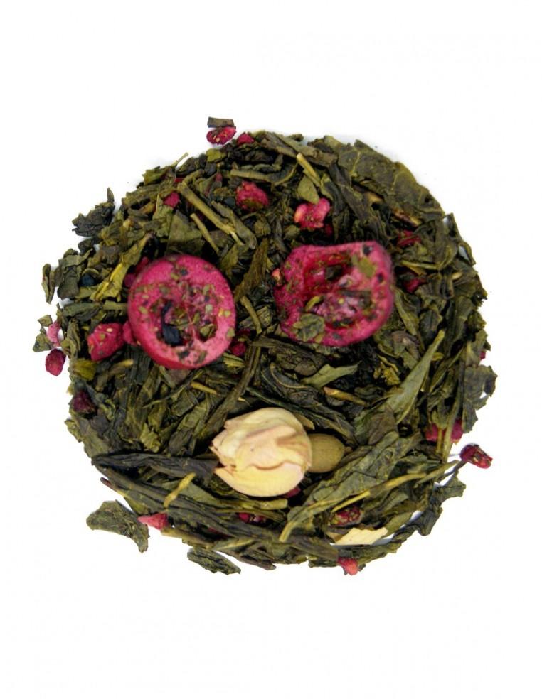 Té verde Sencha con arándanos y rosas