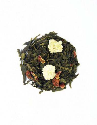 Té verde Sencha con fresa y lichi